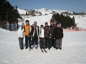 新潟スキー記念写真