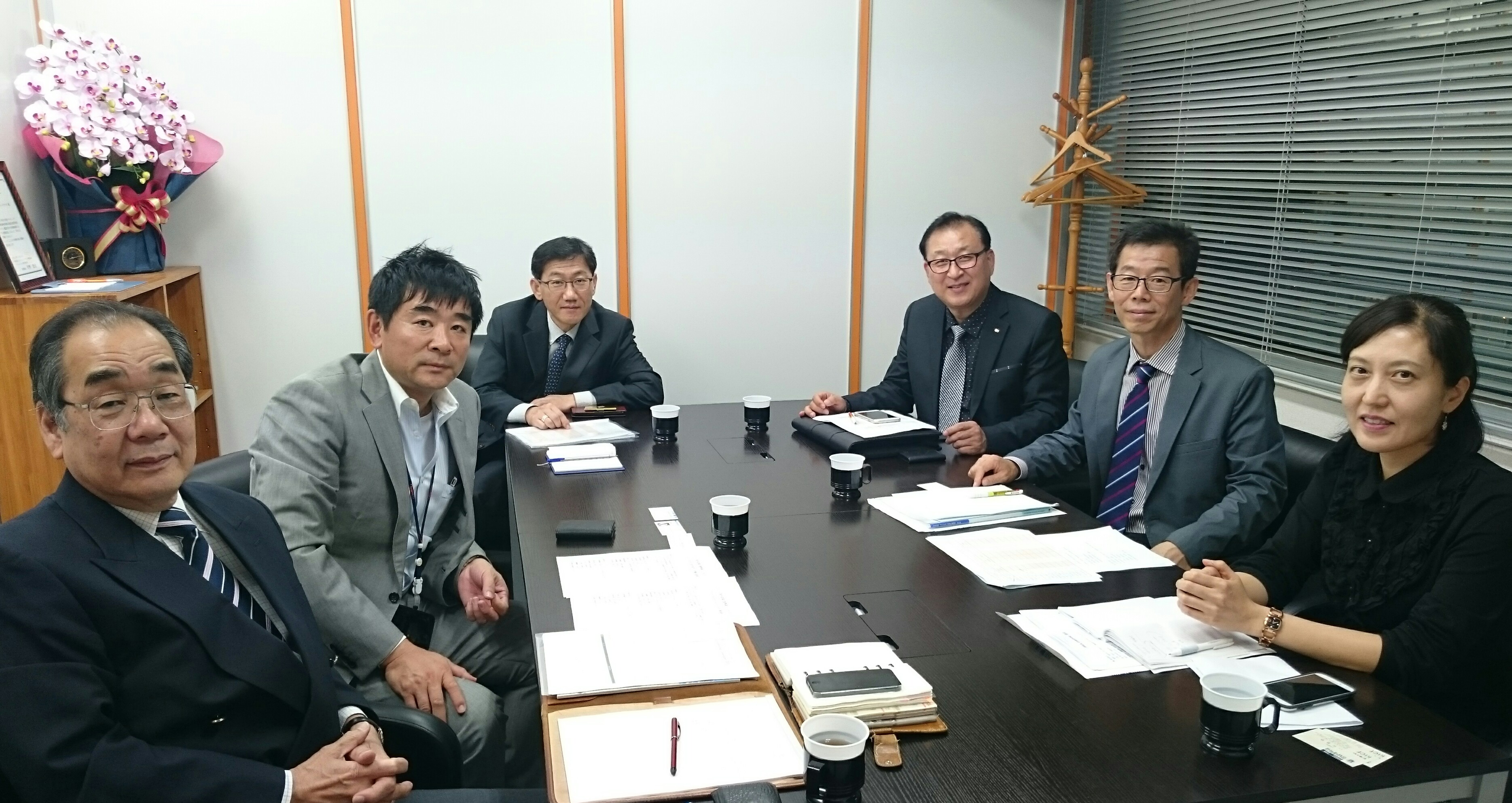 江南大学教授、来訪201510-1